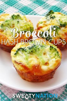 Broccoli Hash Brown Cups - a healthy glutenfree breakfast lunch or dinner treat!