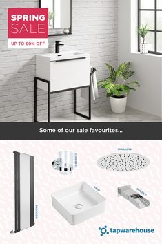 A selection of some of our Spring Sale favourites. Shop the sale via the link! Spring Sale, Summer Sale, Clearance Sale, Radiators, Kitchen Sink, Double Vanity, Design Ideas, Bathroom, Link