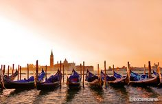 https://flic.kr/p/zBHAts | Venice Gondola Sunset Landscape | Venice is a city in northeastern Italy sited on a group of 118 small islands separated by canals and linked by bridges. - #Venice #Italy #travel