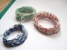 How to make your own bakers twine....easy and inexpensive