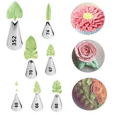 7 Piece Leaf Cream Nozzle Decoration Tip
