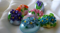 Paper-quilled Easter eggs