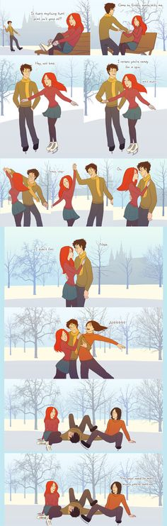 Skating by =julvett on deviantART kmg in love it!! Haha and Sirius lol to cute:)