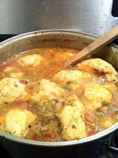 Old Fashioned Chicken Vegetable Dumpling Soup