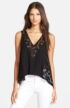 Plenty by Tracy Reese 'Sand' Lace Combo Tank available at #Nordstrom                                                                                                                                                                                 Más