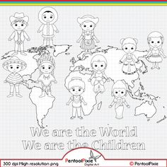 Around The World Theme, Kids Around The World, We Are The World, Around The Worlds, New Year Coloring Pages, Conception Web, Cultural Crafts, Girl Scout Activities, Map Background