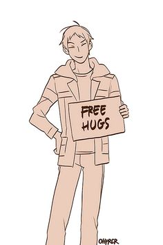 Lance is giving out free hugs! Dash for it!
