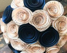 Origami e spirale Bouquet Bouquet di di EverBloomsFlowers su Etsy