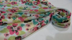 Tropical flower scarf. Material chiffon. Order at Shrelo