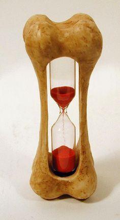 red. pirate. bone. hourglass.