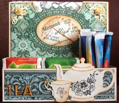 Tea box Tea Box, Paper Crafting, Collage, In This Moment, Projects, Boxes, Scrapbooking, 3d, Collection