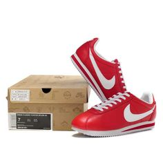 more photos 37204 99746 Black Friday - Nike Cortez Leather Women Shoes Red White