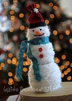 Yarn Snowman