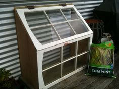 Creative ways to build Greenhouses and Cold Frames using re-purposed windows and doors...