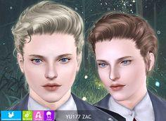 Sims 3 hair, hairstyle, female, male