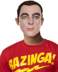 Big Bang Theory Sheldons Mask #bigbang #ShledonCooper #TrendingCostumes #Halloween2013
