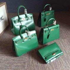 Hermes Kelly 25cm/28cm Real Box Leather Bag Green Hermes Kelly 25, Real Box, Green Bag, Bag Sale, Celine, Leather Bag, Purses And Bags, Handbags, Fashion