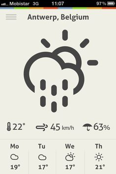 Weather App by Gil #weather #design