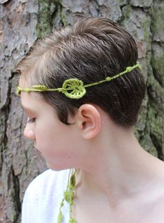 Boho Headwrap Hippie Headband Flower Headband Tie On by TrinikaMoi