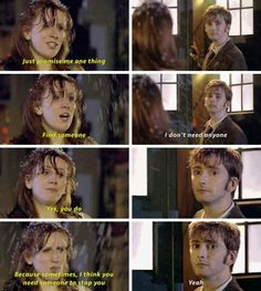 The thought that The Doctor would've died that day if it weren't for Donna makes this even more depressing.