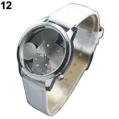 Popular Adorable Design Candy Color Cute Girls Quartz Mickey Wrist Watch NO181 5V33