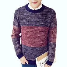 Men's Sweaters 2016 New Brand Men Wool Sweater Autumn Winter O-neck Warm Knitwear Pullover Christmas Sweater Men High Quality H(China (Mainland))