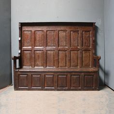 A rare high panelled back Georgian settle from Ireland
