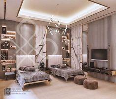 Fancy Bedroom, Single Bedroom, Room Design Bedroom, Bedroom Layouts, Bedroom Green, Room Ideas Bedroom, Home Room Design, Kids Room Design, Home Decor Bedroom