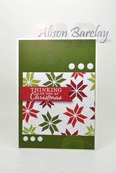 Ornament Christmas Card - Stampin
