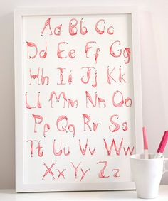 Pink Flamingos Alphabet, ABC print, 18 x 24 poster Nursery Themes, Nursery Wall Art, Girl Nursery, Girl Room, Nursery Decor, Alphabet Nursery, Alphabet Wall, Alphabet Print, Nursery Ideas