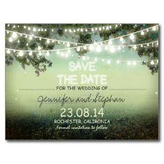 romantic night lights modern save the date postcards $1.10