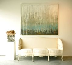 Melissa Key Art Rain on the Water Beige Couch, Large Artwork, Keys Art, Inspirational Wall Art, Diy Painting, Painting Inspiration, Canvas Wall Art, Abstract Paintings, Art Paintings