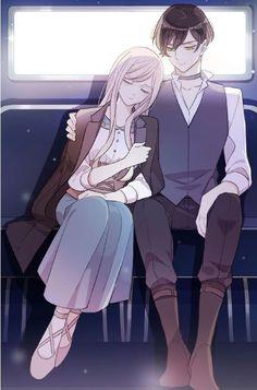 Anime Girl Drawings, Anime Couples Drawings, Anime Couples Manga, Chica Anime Manga, Otaku Anime, Romantic Love Couple, Romantic Anime Couples, Romantic Manga, Cute Anime Couples
