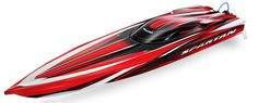 """Spartan Brushless 36"""" Race Boat with TSM, TQi 2.4GHz, Red"""