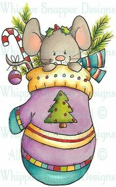 Whipper Snapper Designs is an expansive online store selling a large variety of unique rubber stamp designs. Illustration Noel, Christmas Illustration, Christmas Drawing, Christmas Paintings, Christmas Rock, Christmas Projects, Christmas Animals, Christmas Pictures, Diy Xmas