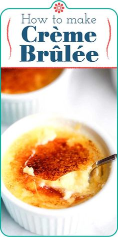 Creme Brulee Torch, Creme Brulee Dishes, Cream Brulee, Easy Creme Brulee Recipe, Simply Recipes, Dessert Recipes, Dessert Cups, Pudding Recipes, Keto Desserts