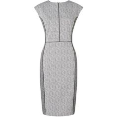 John Lewis Jacquard Dress, White (€115) ❤ liked on Polyvore featuring dresses, white body con dress, white bodycon dress, sleeve maxi dress, white mini dress and white dress