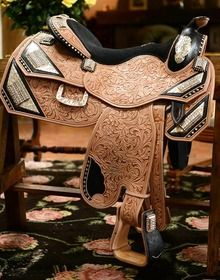 Phil Harris Designs First Ever Engagement Saddle - GoHorseShow.com...This guy got it right! I always said I'd take a saddle over a ring!