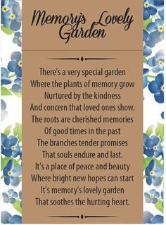 Share the love in remembering loved ones who have passed with these personalized memorial forget-me-not seed packets. Perfect for funerals, memorial services and life celebrations.  Each individual seed packet is personalized with your loved ones name, birthdate & date of passing. Also includes a poem on the back called Memorys Lovely Garden (author unknown). Each seed packet includes 1 helping of forget-me-not flower seeds sealed in its own individual envelope with sowing instructions…