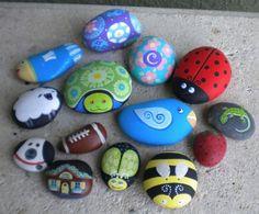 pedras pintadas para jardim - Pesquisa Google