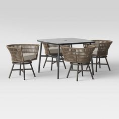 Hardoy Patio Dining Set With Swivel Chairs - Project 62™ : Target Outdoor Dining Furniture, Patio Dining, Patio Chairs, Dining Set, Dining Table, Outdoor Decor, Stainless Steel Table, Extension Table, Concrete Patio