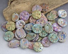Handmade polymer clay components by Emma Ralph, EJR Beads
