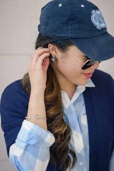 UNC Game Day Wear Gracefullee Made Blog Blogger Cameron Village Raleigh North Carolina Fashion Photography