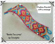GEO-063  Behold The Cross  Odd Count Peyote Stitch by TrinityDJ