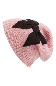 This pink slouchy beanie is perfect for keeping warm.