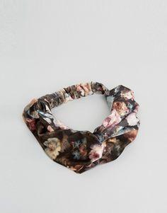 ASOS Floral Velvet Turban Headband