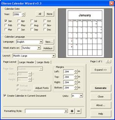 Creating calendars with CorelDRAW