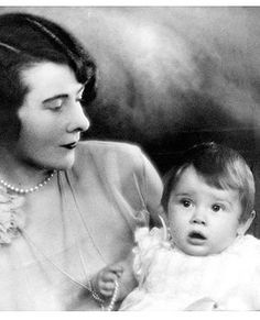 A portrait of Audrey, 8 months, and her mother, Ella, age 30, in 1930.
