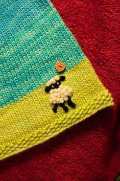 Embroider a Sweet Lil' Lamb on your Knitting: How-To. #knitting #embroidery