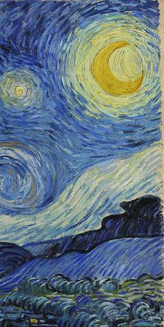 Vincent Van Gogh Starry Night  1889  (detail) My all time fav!